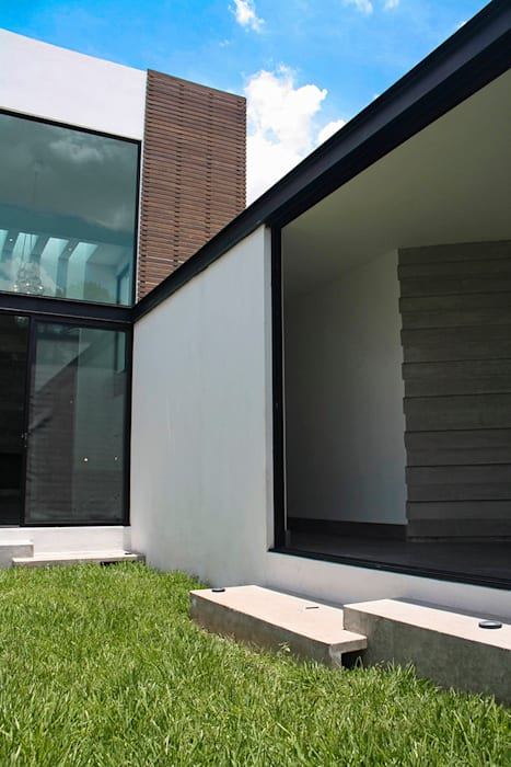 Interior/Exterior: Pasillos y recibidores de estilo  por Narda Davila arquitectura