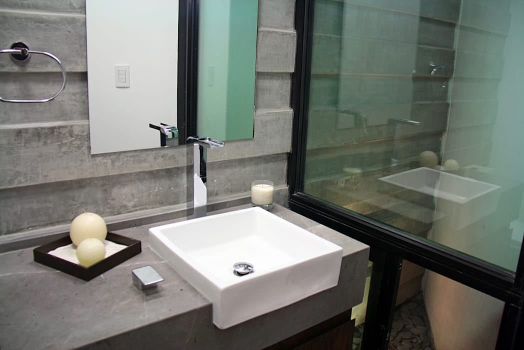 Baño visitas Baños modernos de Narda Davila arquitectura Moderno Mármol
