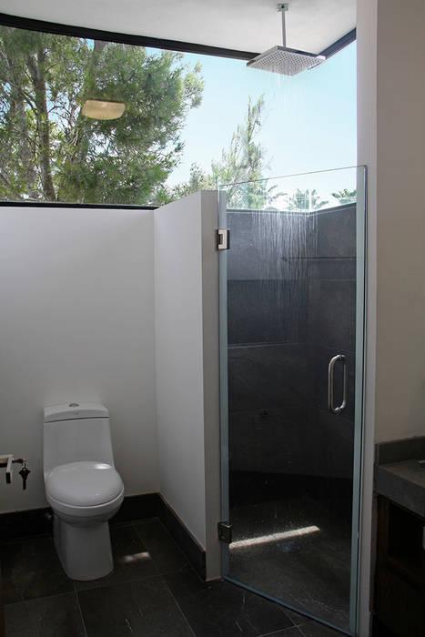 Baño Baños modernos de Narda Davila arquitectura Moderno Vidrio
