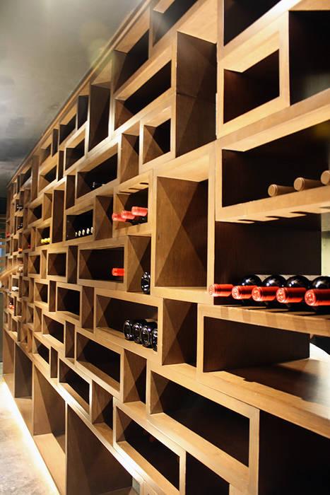 Cava Gastronomía de estilo moderno de Narda Davila arquitectura Moderno Madera Acabado en madera