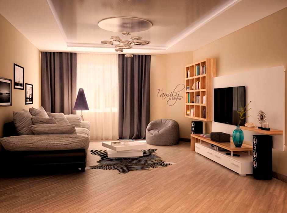 Living room by AG design, Minimalist