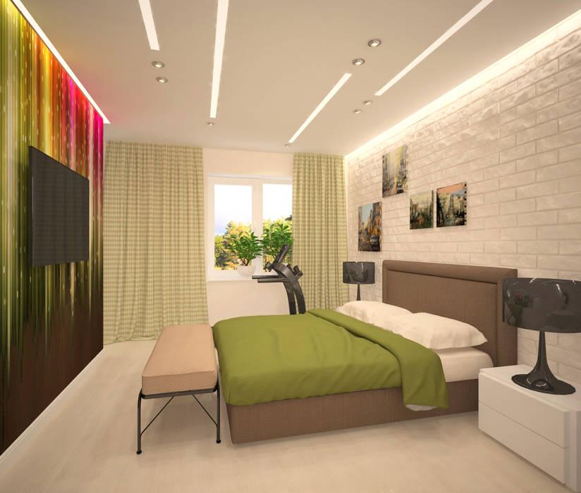 Второй этаж, спальня Спальня в стиле минимализм от Студия дизайна Виктории Силаевой Минимализм