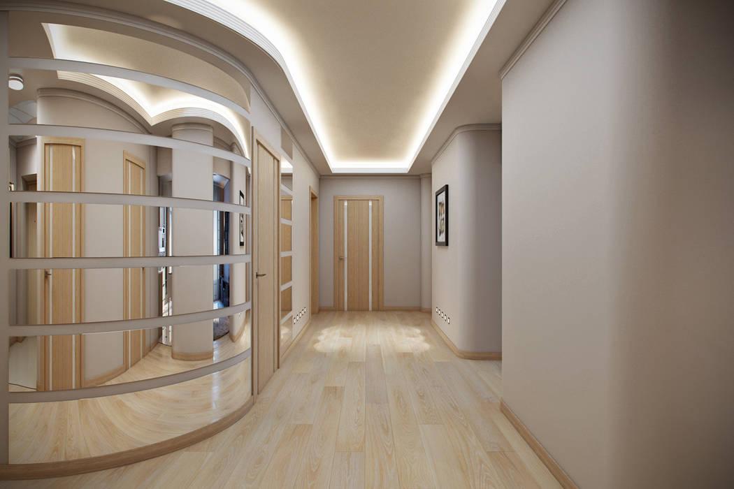 homify Koridor & Tangga Modern Beige