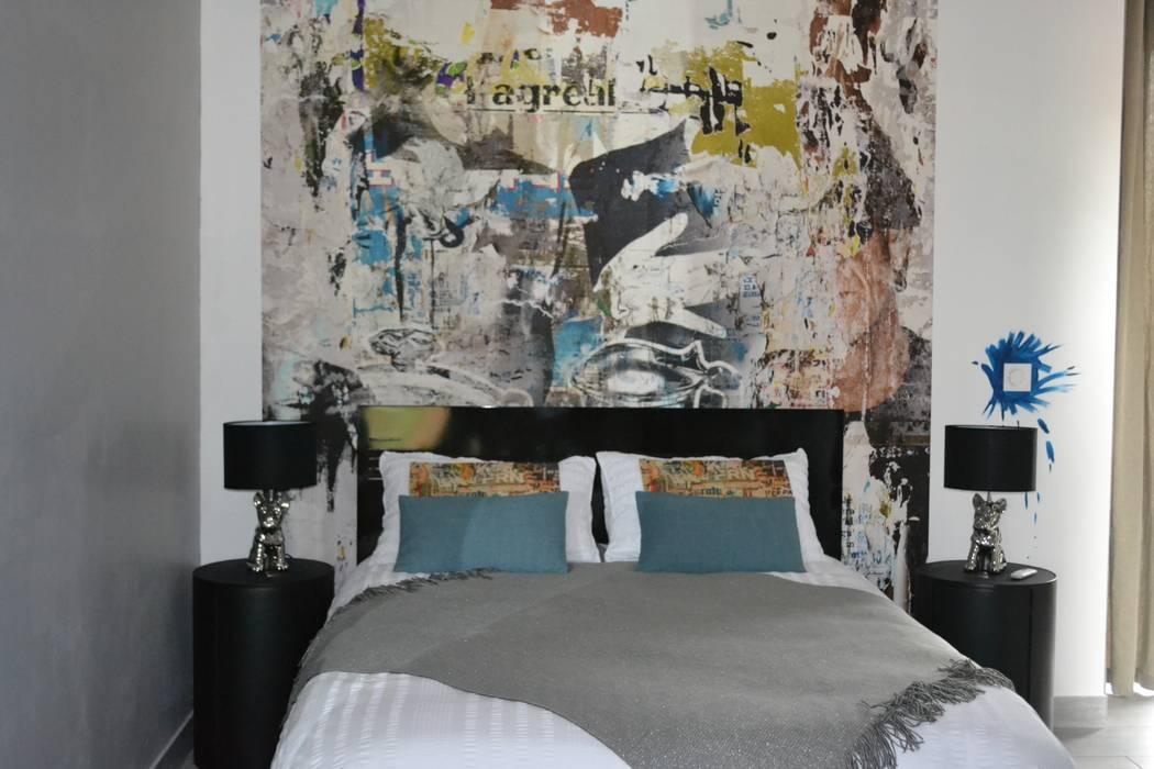 Chambre Arty: Chambre de style  par KREA Koncept