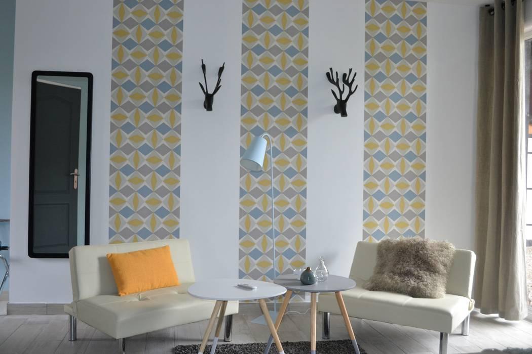 Chambre Néo-scandinave: Chambre de style  par KREA Koncept