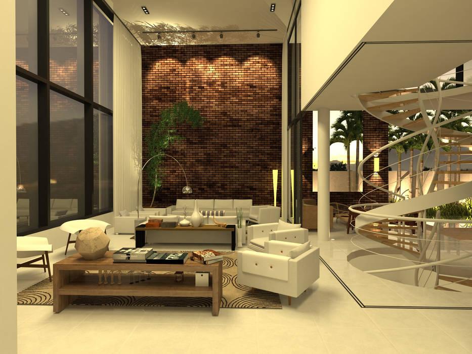 Modern Oturma Odası Macro Arquitetos Modern