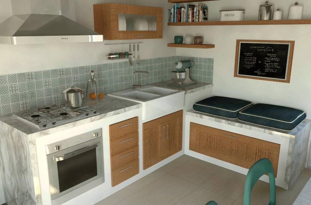 Interior Design Project: Renovation of a Country House | Progetto di interni: Riqualificazione Casa di Campagna: Cucina in stile  di Fabio Sillato Architect & Graphic Designer