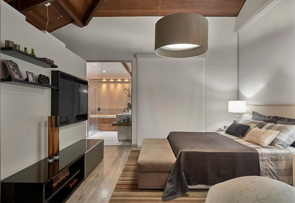 غرفة نوم تنفيذ Isabela Canaan Arquitetos e Associados, حداثي