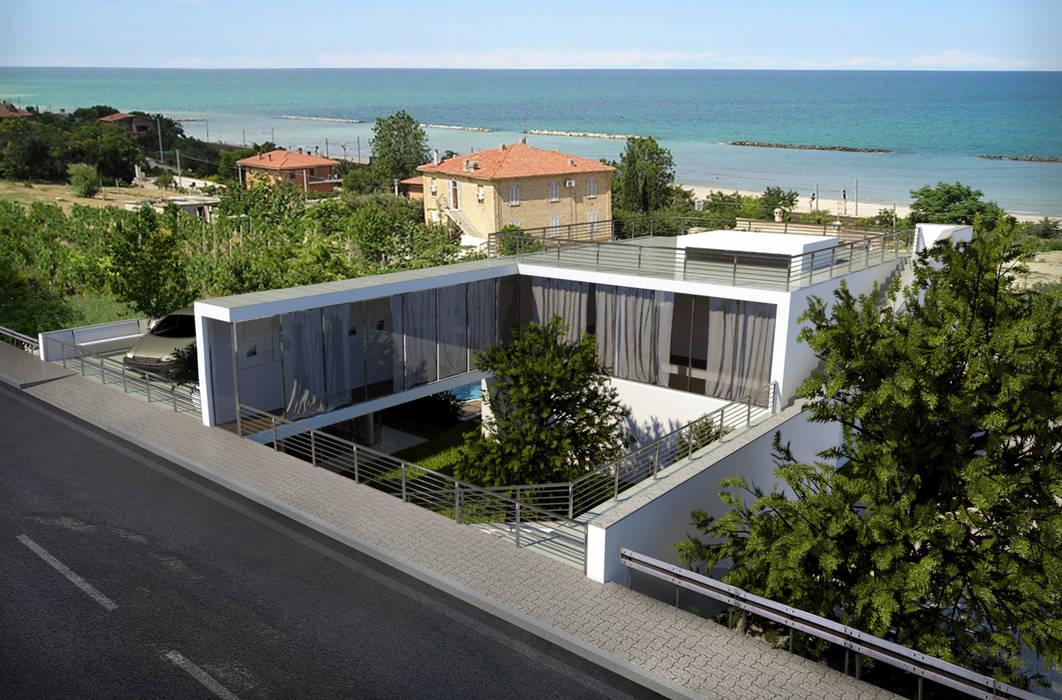 Architectural Project: P House | Progetto di Architettura: P House: Case in stile in stile Minimalista di Fabio Sillato Architect & Graphic Designer