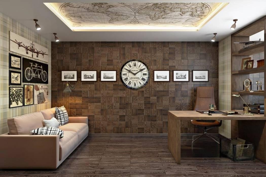 Bureau moderne par Дизайн студия Алёны Чекалиной Moderne
