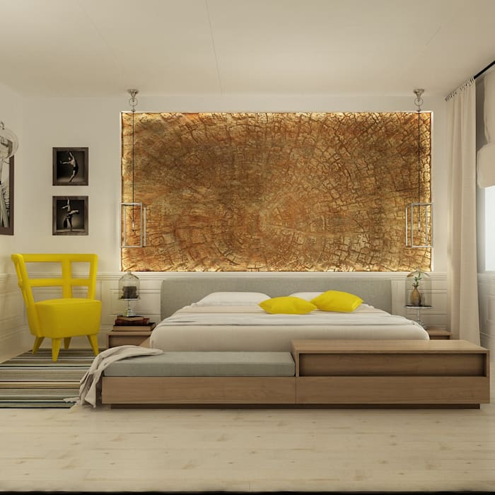 Eclectic style bedroom by The Аrt of interior from Olga Kalinina Eclectic