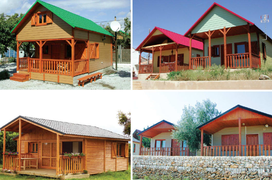 BS Ingeniería Country style house Wood Beige