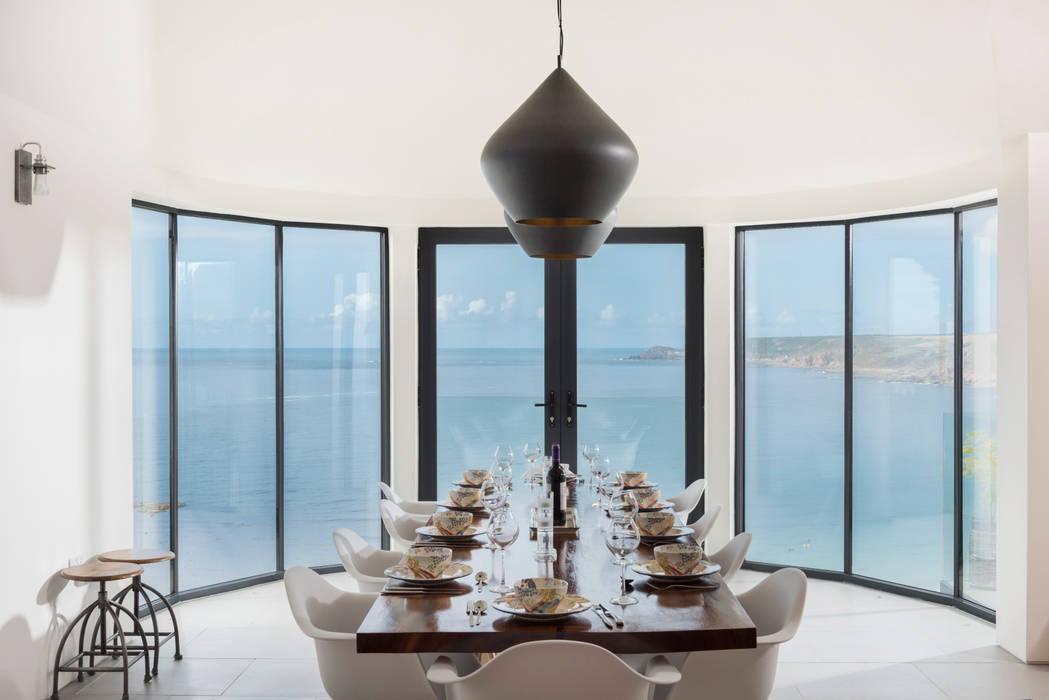 Gwel-An-Treth, Sennen Cove, Cornwall Laurence Associates Modern Dining Room White