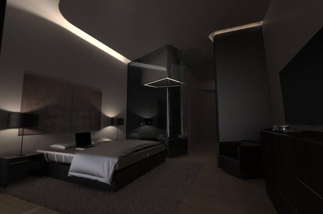 Habitação Unifamiliar Isolada T4 - o Tempo e a Sensação Quartos modernos por Office of Feeling Architecture, Lda Moderno