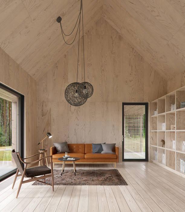 INT2architecture Scandinavian style living room Plywood Orange