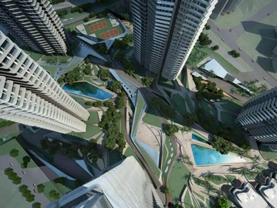 Vista aérea Casas de estilo minimalista de Estudiante.proyectos Minimalista Vidrio