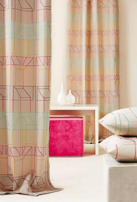 Vorhang und Kissen homify Moderne Schlafzimmer Mehrfarbig