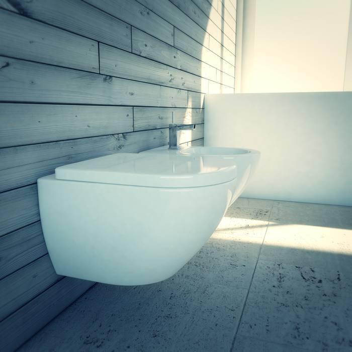 Bathroom: Bagno in stile in stile Minimalista di pixelgrafica
