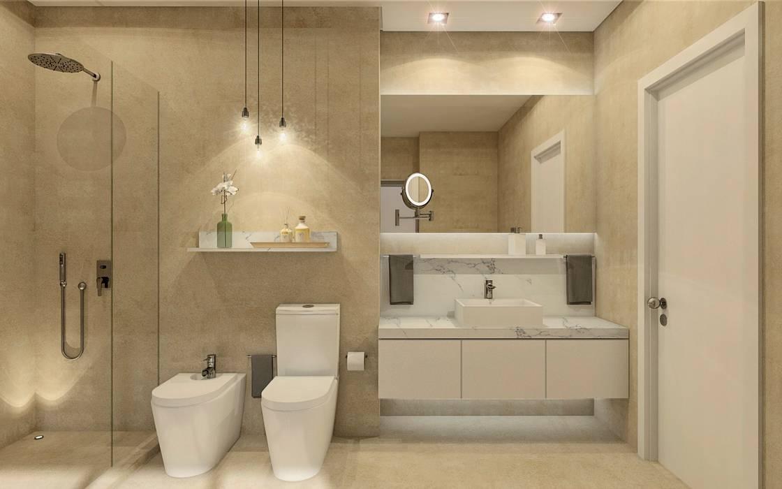 MRS - Interior Design Kamar Mandi Modern Beige