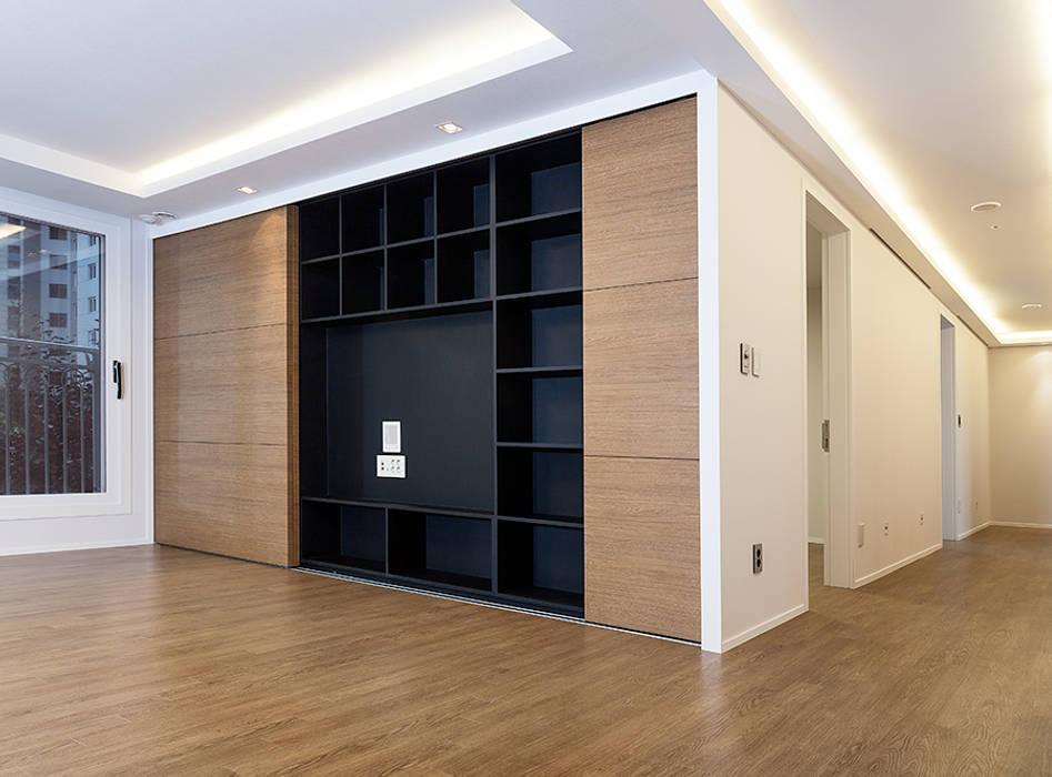 디자인사무실 모던스타일 거실 by 디자인사무실 모던 우드 우드 그레인