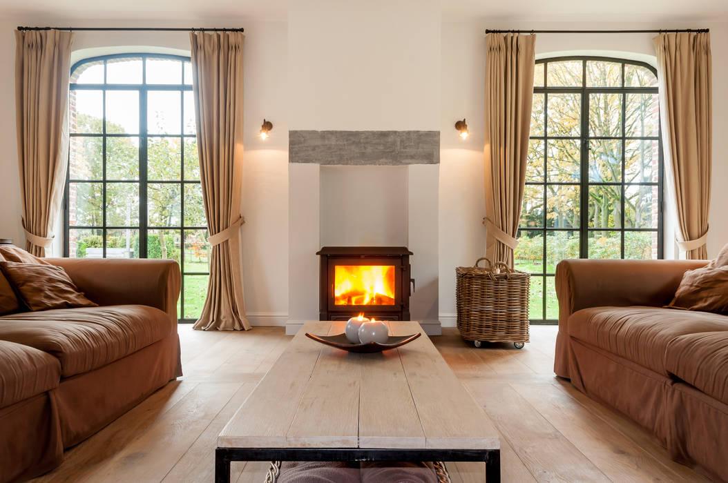 De Plankerij BVBA Country style living room Wood