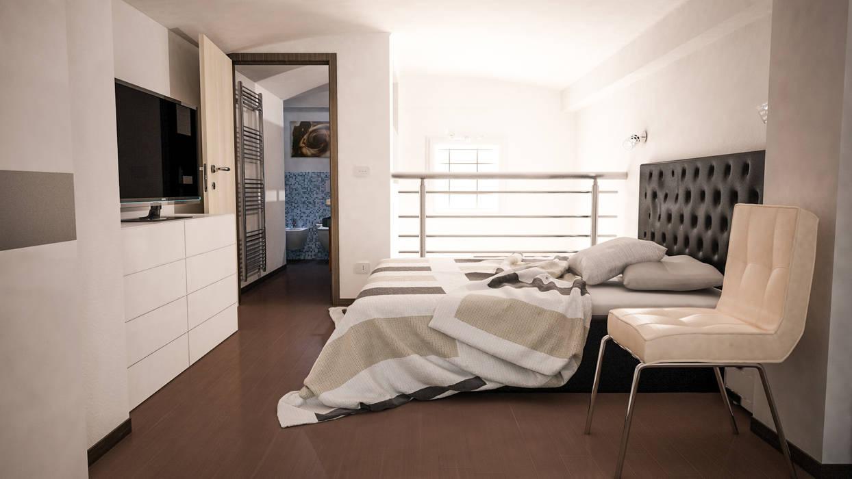 Camera da letto: Camera da letto in stile in stile Moderno di Proreal3D