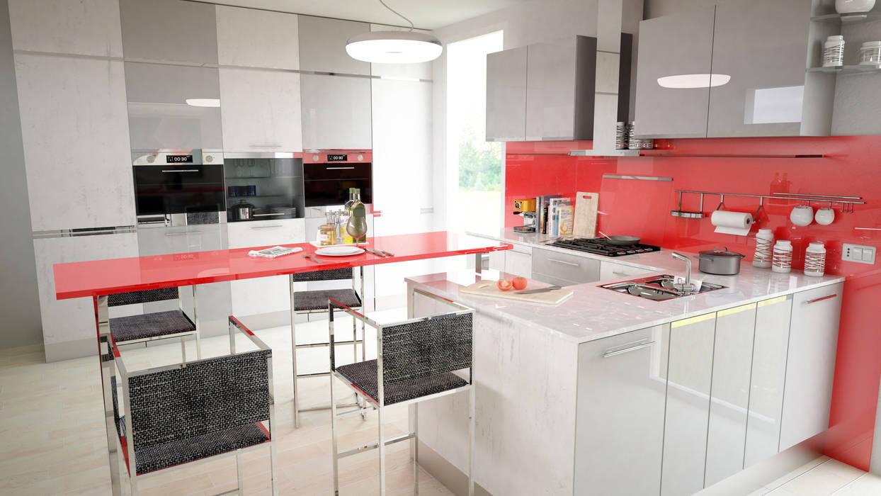 Cucina: Cucina in stile in stile Moderno di Proreal3D