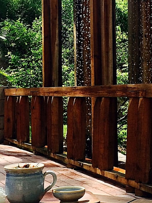 Tropical style gardens by BR ARQUITECTOS Tropical Wood Wood effect