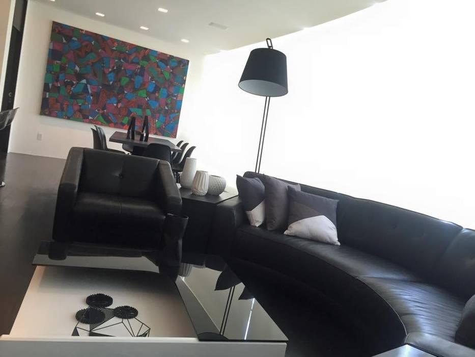THE ST. REGIS: Salas de estilo moderno por Barra de Arquitectura Mexicana