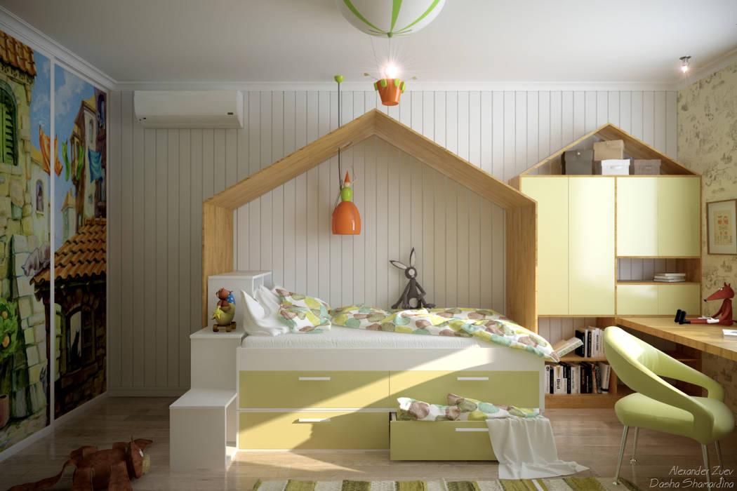 Dormitorios infantiles de estilo moderno de Студия интерьерного дизайна happy.design Moderno