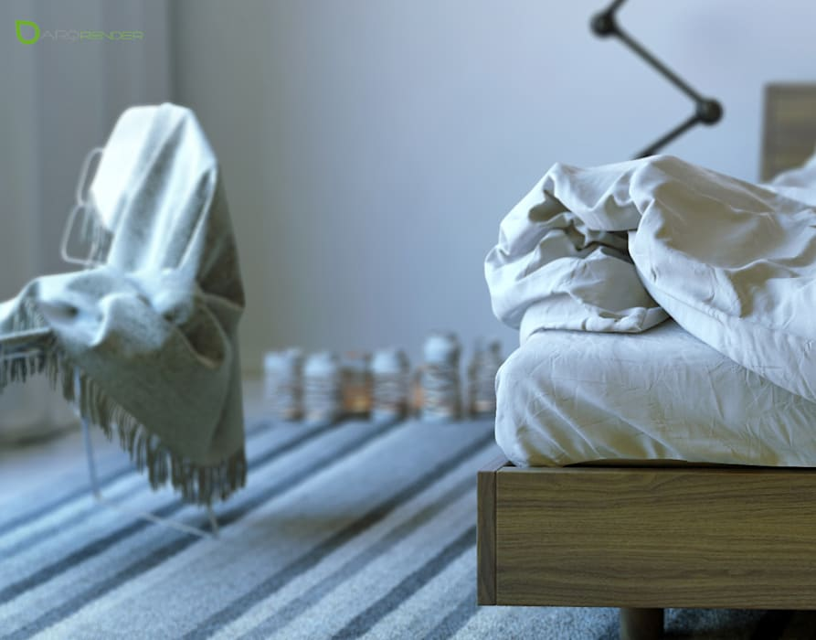 The Bed: Dormitorios de estilo  por ArqRender
