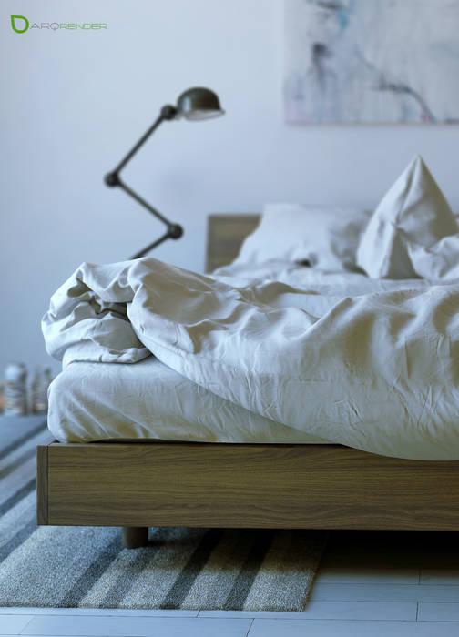 The Bed Dormitorios modernos: Ideas, imágenes y decoración de ArqRender Moderno