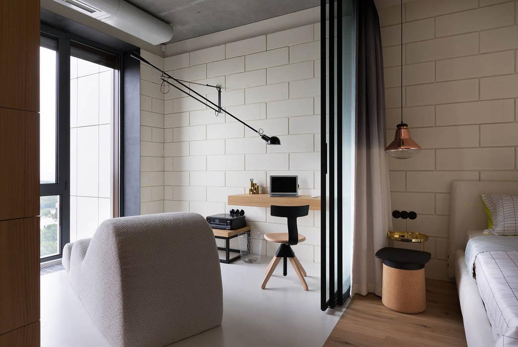 NPL. Penthouse:  Study/office by Olga Akulova DESIGN