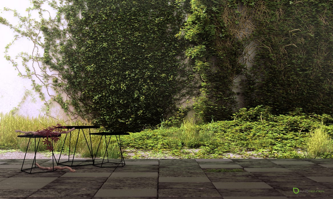 IVY Landscaping Jardines asiáticos de ArqRender Asiático