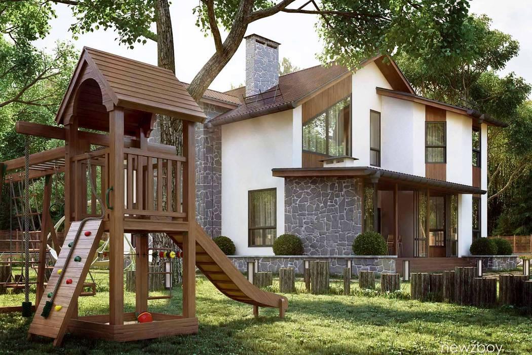 Mediterranean style house by Yurii Hrytsenko Mediterranean Wood Wood effect