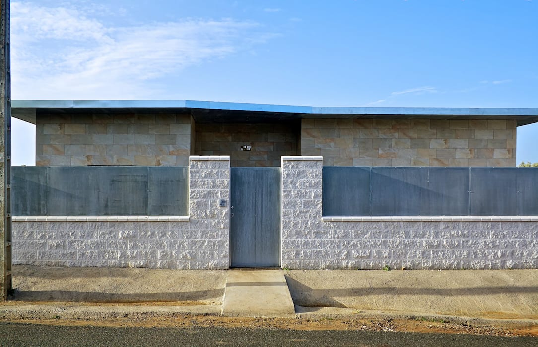 Fachada principal Sánchez-Matamoros | Arquitecto Casas de estilo moderno Cerámico Beige