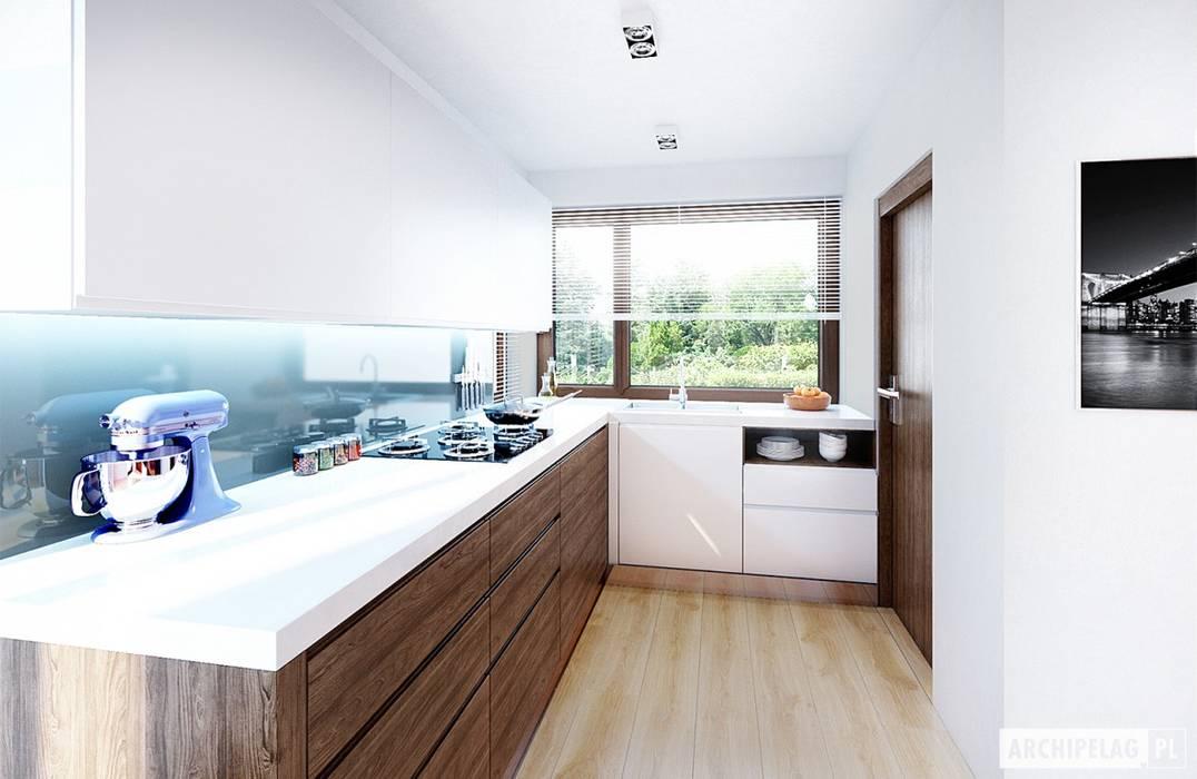 Modern kitchen by Pracownia Projektowa ARCHIPELAG Modern