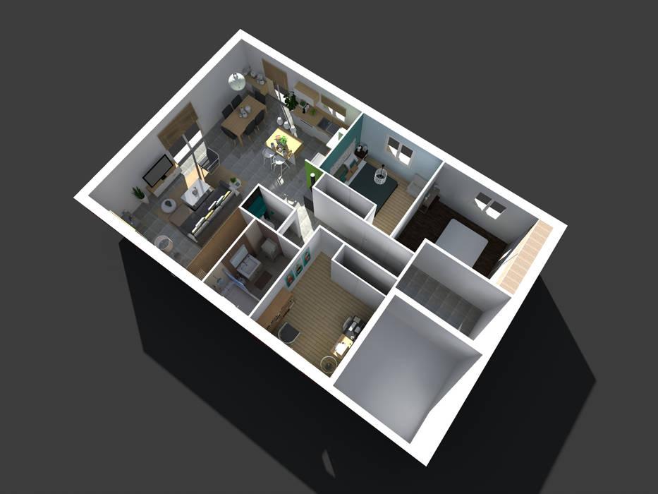 Maison neuve à Saint Jean d'Illac: Maisons de style de style Moderne par Sandia Design