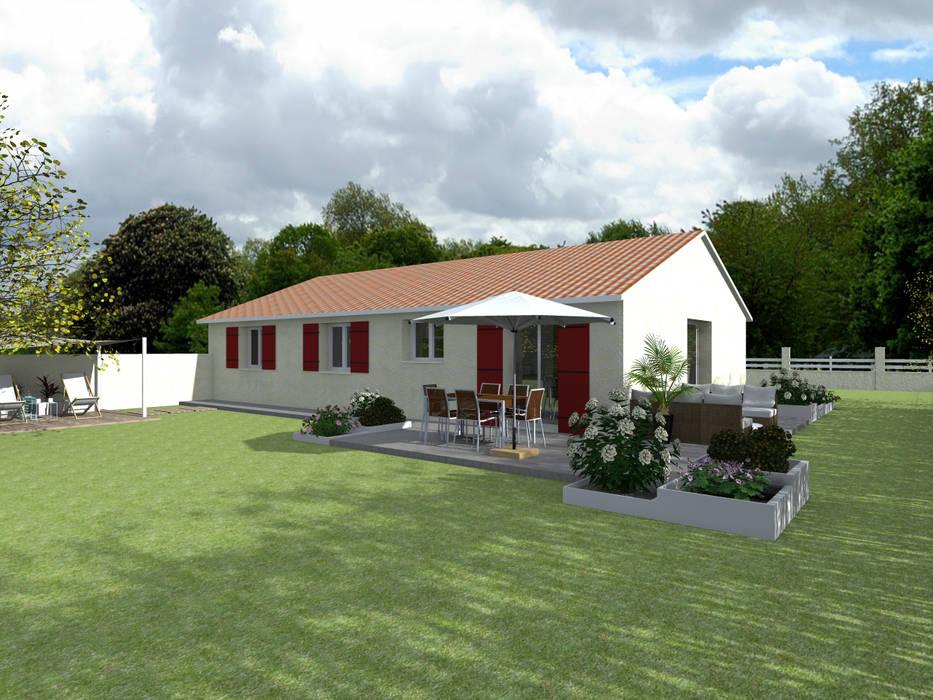 Le jardin à Saint Jean d'Illac: Terrasse de style  par Sandia Design