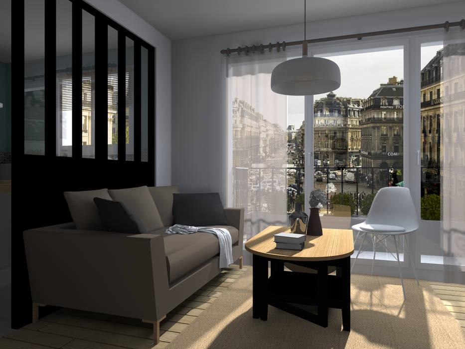 Espaces à vivre doux & lumineux: Salon de style de style Minimaliste par Sandia Design