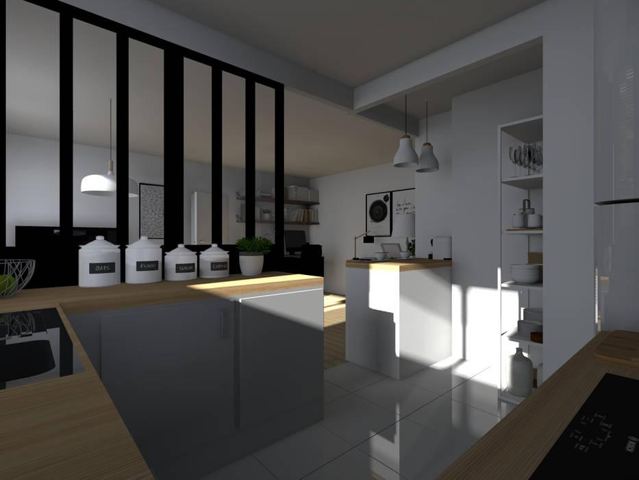 Espaces à vivre doux & lumineux: Cuisine de style  par Sandia Design