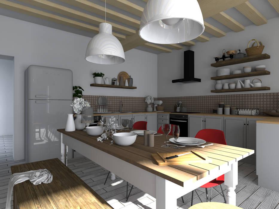 Ferme tarnaise : Cuisine de style de style Rustique par Sandia Design