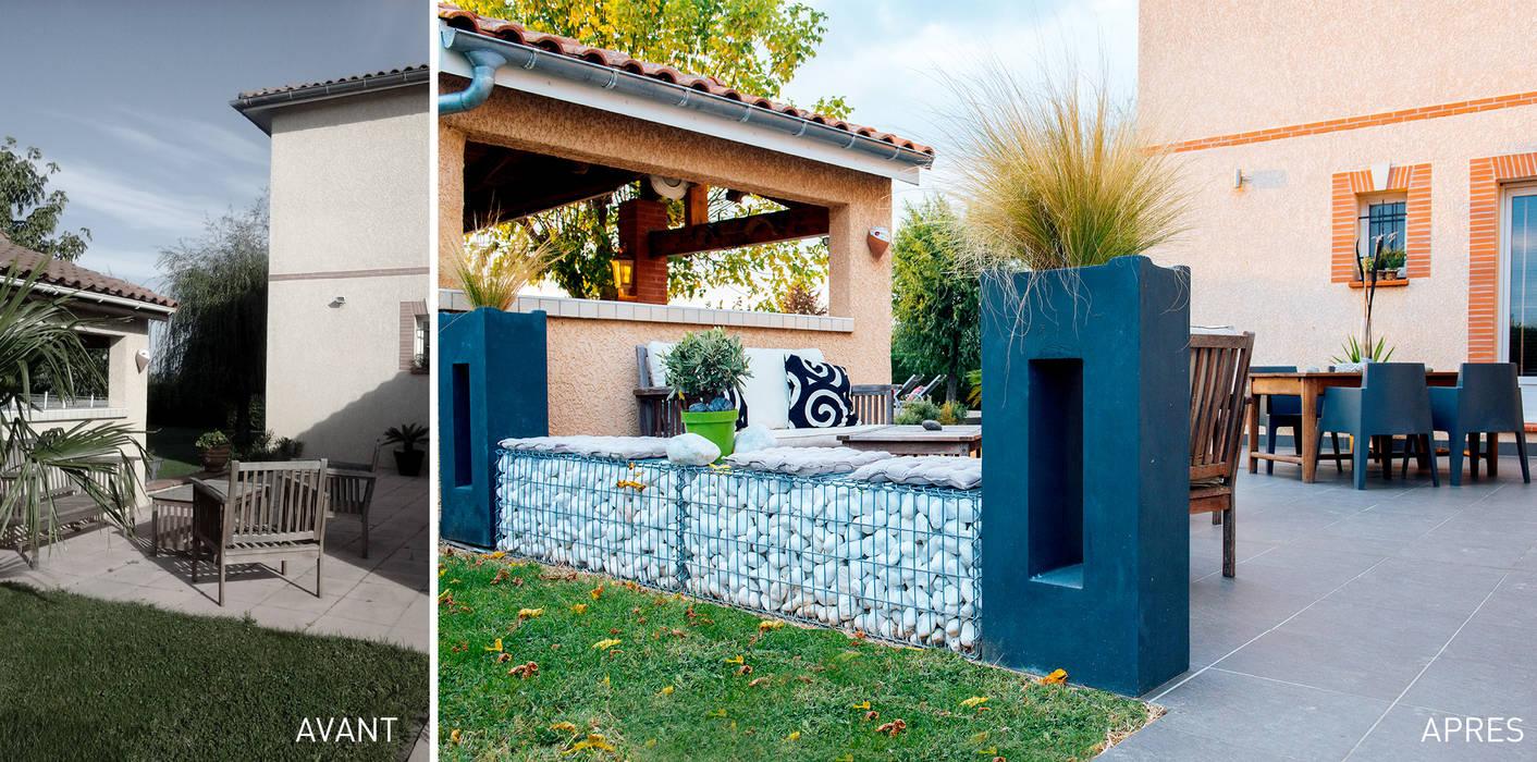 un jardin design chez soi terrasse de style par e p design emilie peyrille homify. Black Bedroom Furniture Sets. Home Design Ideas