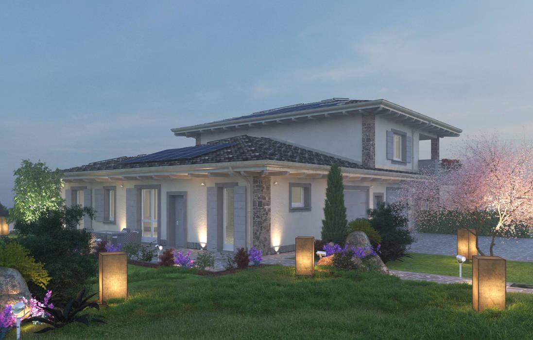 Rendering interni ed esterni case in stile di avogadri for Case in stile