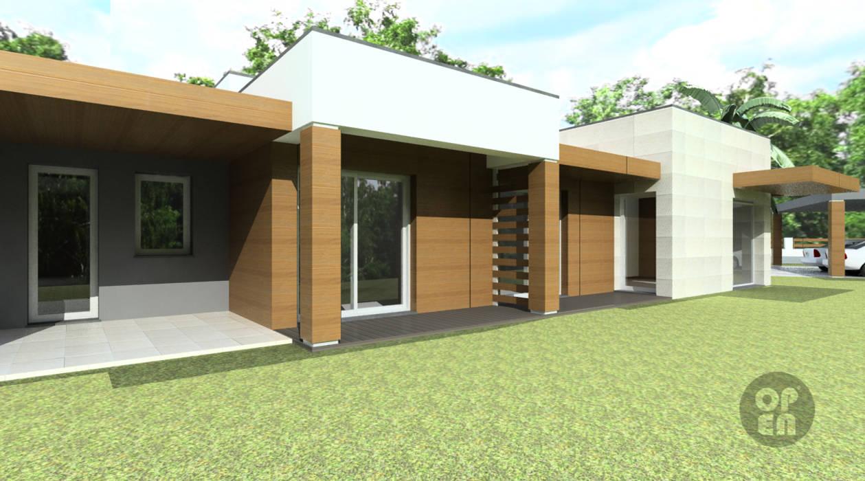 Moradia Unifamiliar - Viseu Casas modernas por ATELIER OPEN ® - Arquitetura e Engenharia Moderno