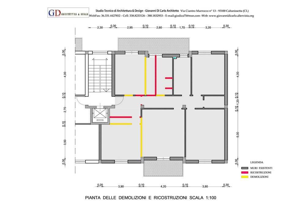 Schema della ristrutturazione demolizioni ricostruzioni for Progettazione on line
