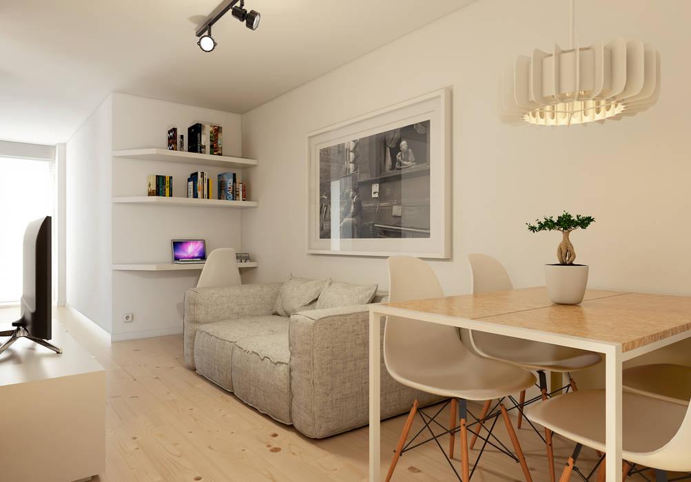 Soggiorno in stile in stile minimalista di jos tiago rosa for Soggiorno minimalista
