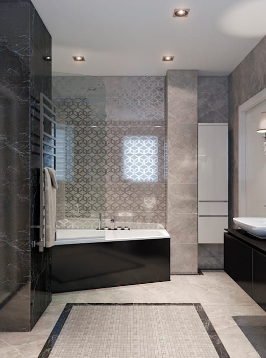 Ванная в современном стиле: Ванные комнаты в . Автор – EJ Studio, Модерн