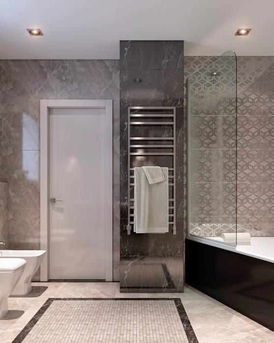 現代浴室設計點子、靈感&圖片 根據 EJ Studio 現代風