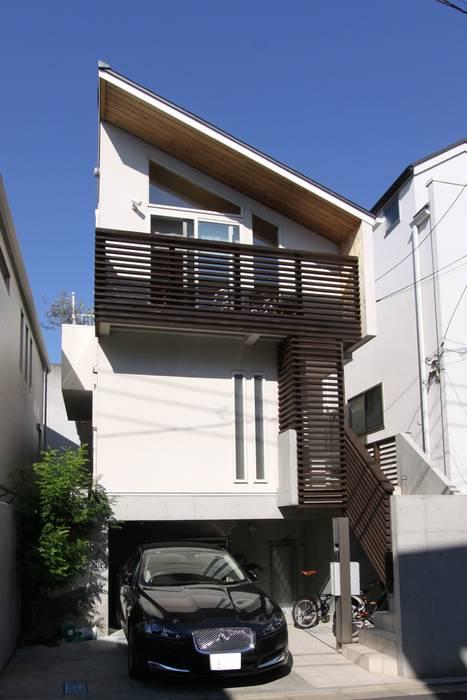 Casas de estilo  de アトリエグローカル一級建築士事務所